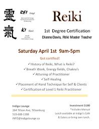 get certified reiki energy healing indigolounge ca