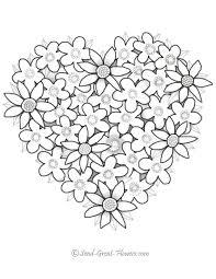 cute flower coloring pages coloring home