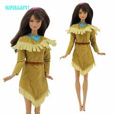 pocahontas costume indian dress sleeves princess mini gown copy