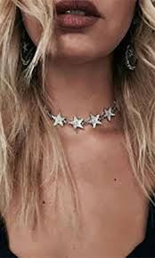 star choker necklace images Star power crystal bling star choker necklace cosmic silver jpg