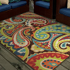 Multi Colored Area Rug Orian Rugs Bright Colors Paisley Monteray Area Rug Or Runner