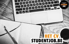 Sjabloon Cv Jobstudent alles het cv studentjob be