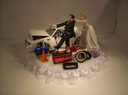car wedding cake toppers charming ideas mechanic wedding cake topper neoteric design car