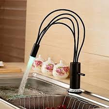 led kitchen faucet marvelous votamuta led colors changing single handle swivel kitchen