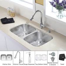 double soap dispenser kitchen discontinued 32 inch undermount