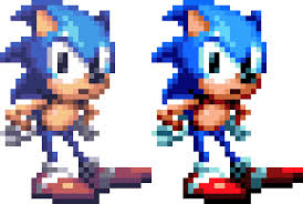 something i wanted to show off sonic mania sprite using a