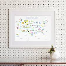 Map Of The Usa States by Usa States Map Art Print Various Sizes Holly Francesca