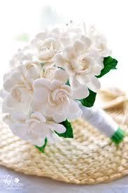 dk designs all gardenia wedding bouquet clay flowers