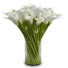 white calla lilies calla arrangement safavieh