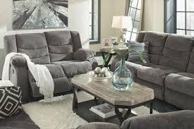 signature design by ashley 3 piece tulen gray reclining sofa set