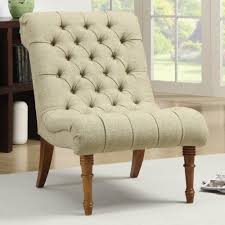 coaster accent seating tufted accent chair without arms coaster
