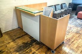 Reception Desk With Transaction Counter Maple Desk Chair Beautiful X 7 Maple Reception Desks With