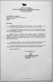 How To Properly Write A Letter Of Resignation Full Text Pnp Chief Alan Purisima U0027s Resignation Letter Inquirer News