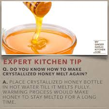 do you know how to make crystallized honey melt again kitchen