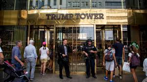 riot protests in trump tower with u0027free sentsov u0027 banner am