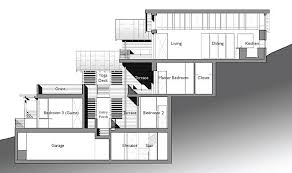 hillside cabin plans steep hillside house plans amazing leed home with a vertical