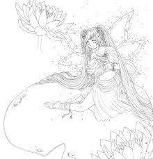 anime fairy coloring pages coloring pages