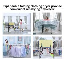Folding Clothes Dryer Rack Elixir Deco Heavy Duty Gullwing Foldable Clothes Drying Rack No