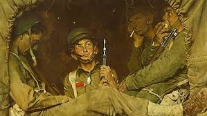 norman rockwell painting found at gardner high school sold for