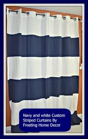 Blue And White Striped Shower Curtain 12 Best Curtains Images On Pinterest Premier Prints Drapery