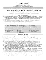 Sample Resume Senior Management Position by Sample Resume For Project Management Position Resume For Your