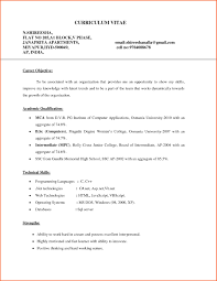 Best Resume Download For Fresher by Resume Format For Mca Freshers It Resume Cover Letter Sample