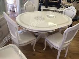 versace dining room table versace design white silver italian high gloss round dining table 4