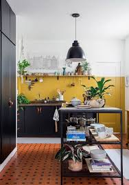 yellow kitchen walls white cabinets 26 bold black and yellow kitchen designs digsdigs