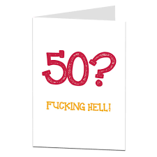 50th Birthday Cards For Funny 50th Birthday Card For Him Her