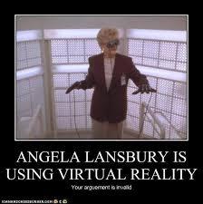 Angela Lansbury Meme - angela lansbury is using virtual reality pop culture funny