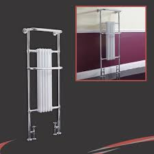 high btus traditional designer chrome heated towel rails