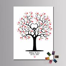 customized fingerprint tree painting wedding guest book 24