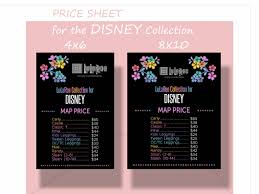 Map Price Llr Price Sheet For The Disney Collection Two Sizes 4x6