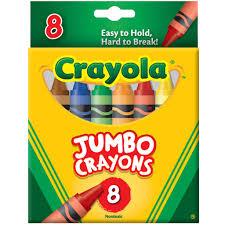 crayola jumbo crayons 8 count