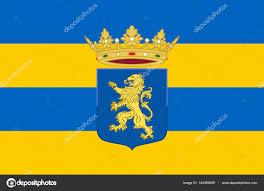 Flag Of Netherlands Flag Of Leeuwarden Friesland Of Netherlands U2014 Stock Photo Dique
