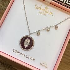 hamsa sterling silver necklace images Sterling silver hamsa necklace poshmark jpg