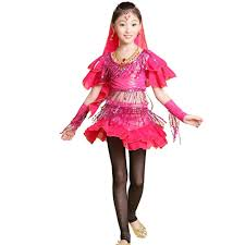 kids halloween clothes 2015 new promotion 4pcs kids belly dance ballroom dresses girls