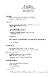 exles of high school student resumes resume for a secondary school
