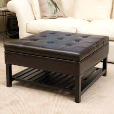 Padded Ottoman Padded Ottoman Storage Storage Ottoman Leather Footstool With