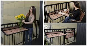 Outdoor Furniture Small Space by Space Saving Table For Small Balconies Home Designing