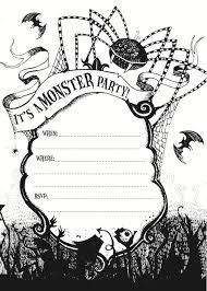 free halloween birthday party invitation templates free printable