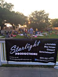 host your own outdoor movie night with starlight productions