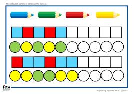 simple repeating pattern worksheet