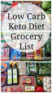 low carb grocery shopping list keto diet friendly foods which