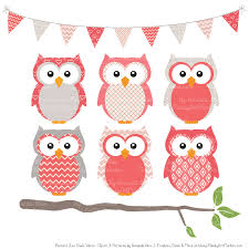 pattern clip art images coral patterned owl clipart patterns