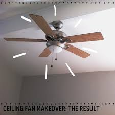 before and after a 6 ceiling fan makeover