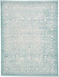 Aqua Area Rug Light Blue 8 X 10 New Vintage Rug Area Rugs Esalerugs Home