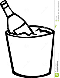 champagne bottle outline black and white champagne bottle clipart 12