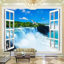 online get cheap fiber paper aliexpress com alibaba group custom any size 3d photo wall paper natural mural scenery spectacular waterfalls large mural bedding room