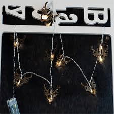 Deer Christmas Lights Wooden Reindeer Christmas Lights 10 Leds Battery Operated Tauren